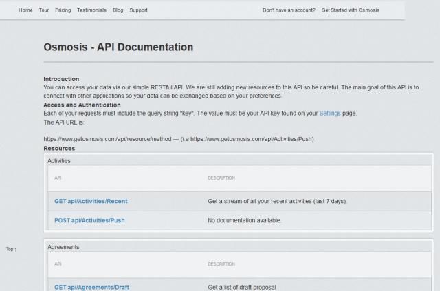 Osmosis API