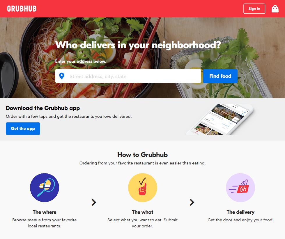 GrubHub API