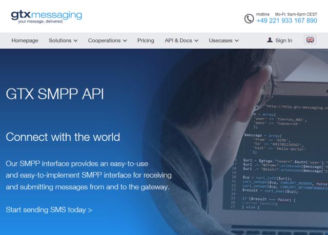 Gtx Messaging Smpp API