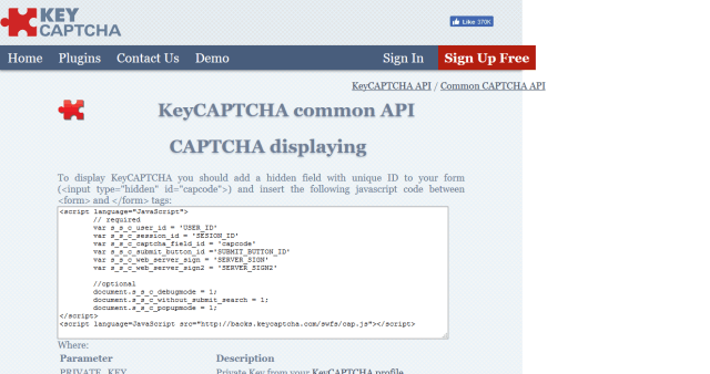 Key Captcha API