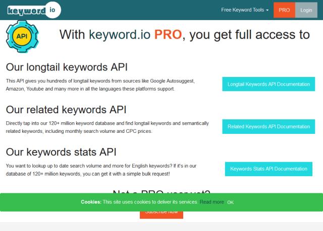 Keywordio API
