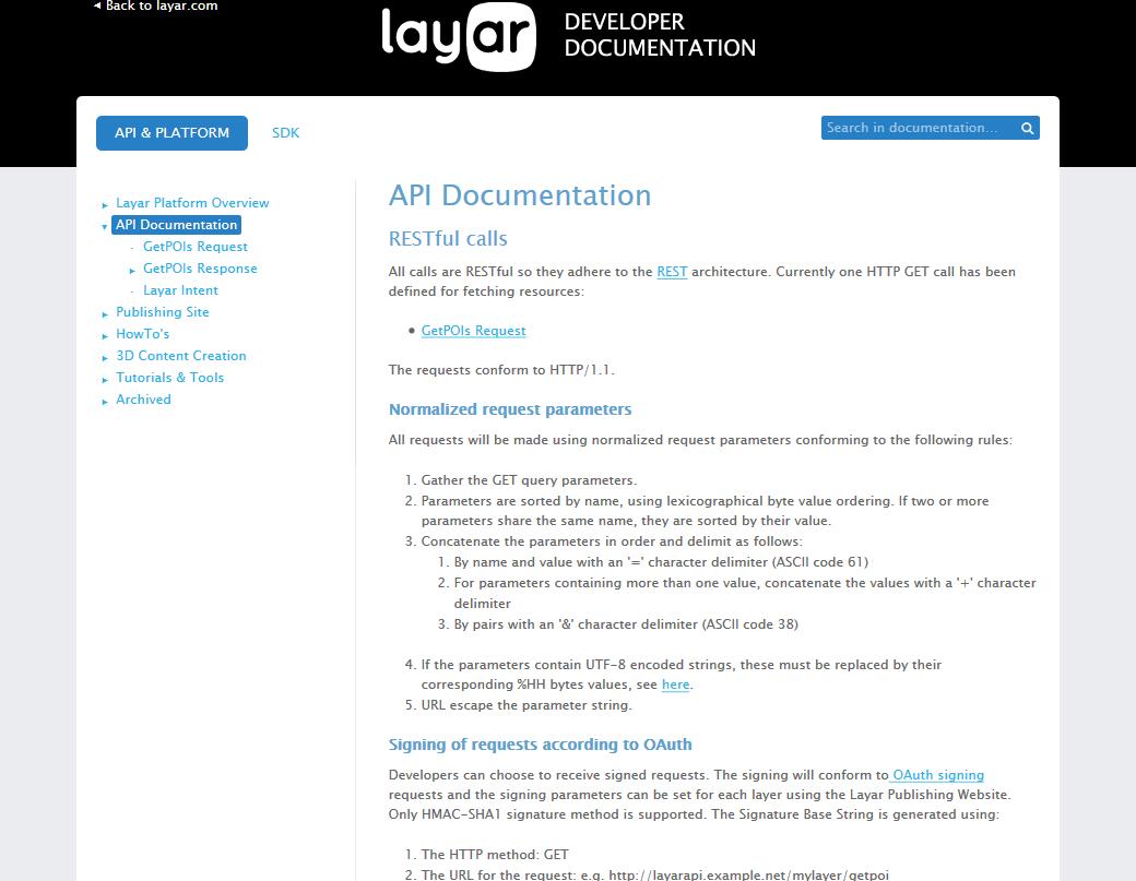Layar API