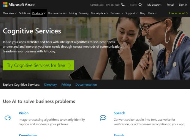 Microsoft Cognitive Services Text Analysis API