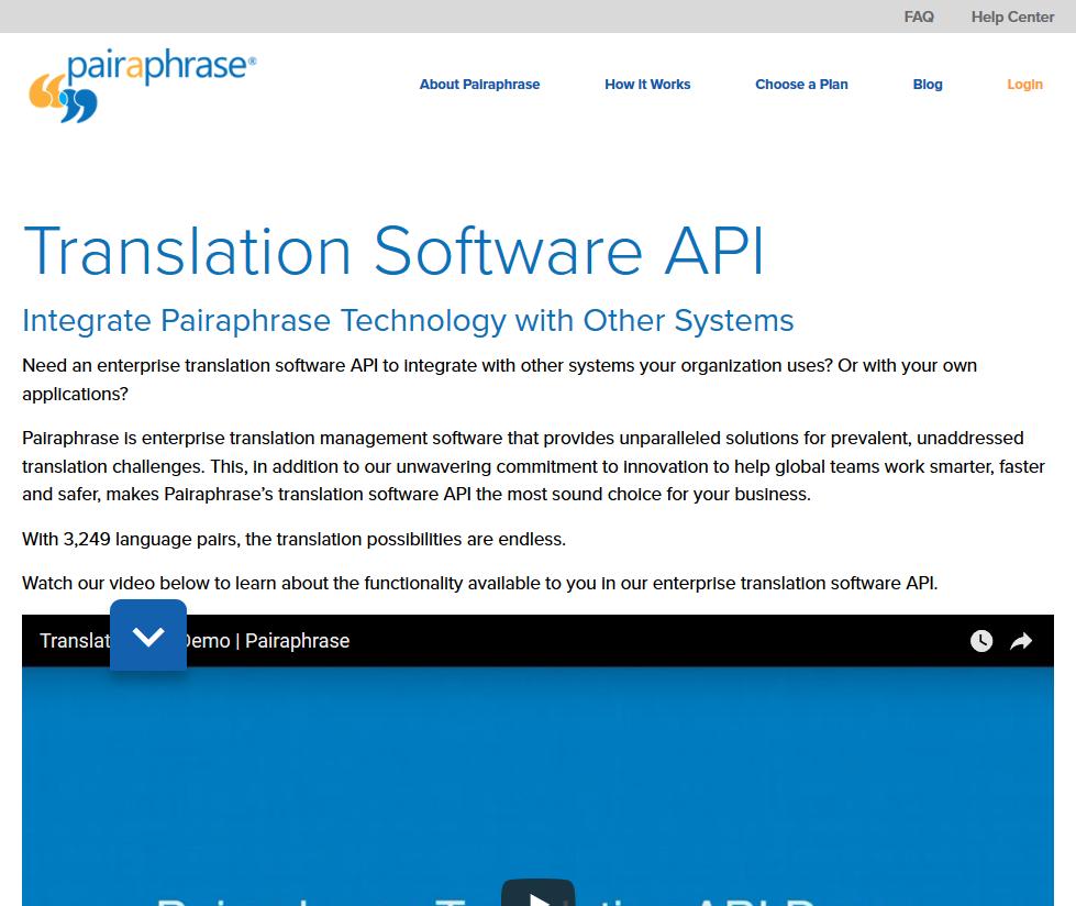 Pairaphrase Translation API