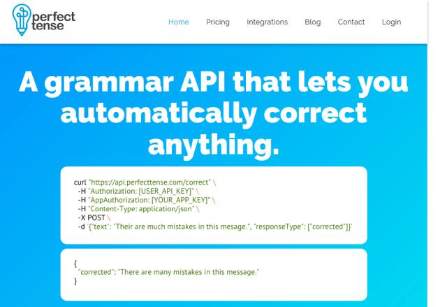 Perfect Tense API