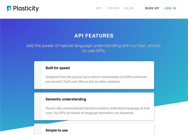 Plasticity Sapien API