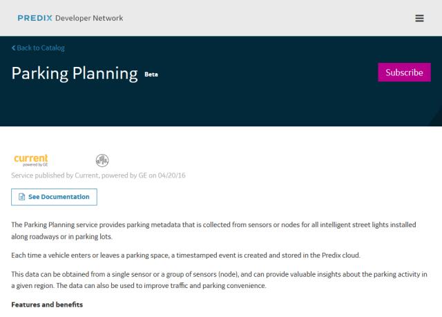 Predix Parking Planning API