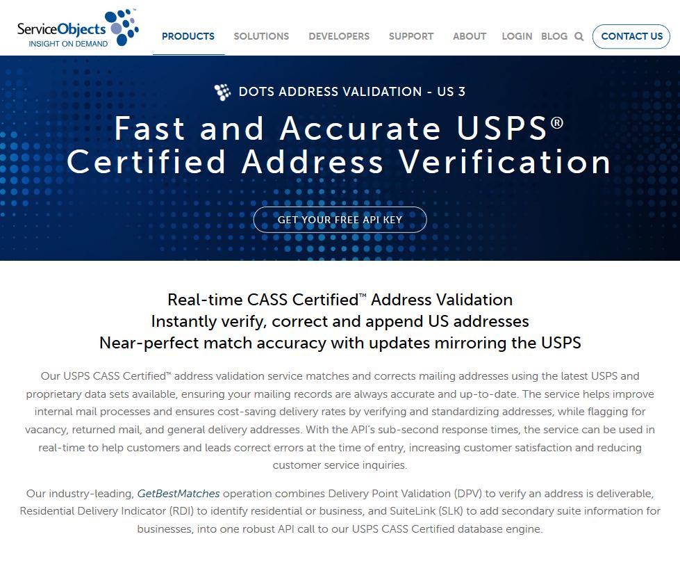 Service Objects DOTS Address API