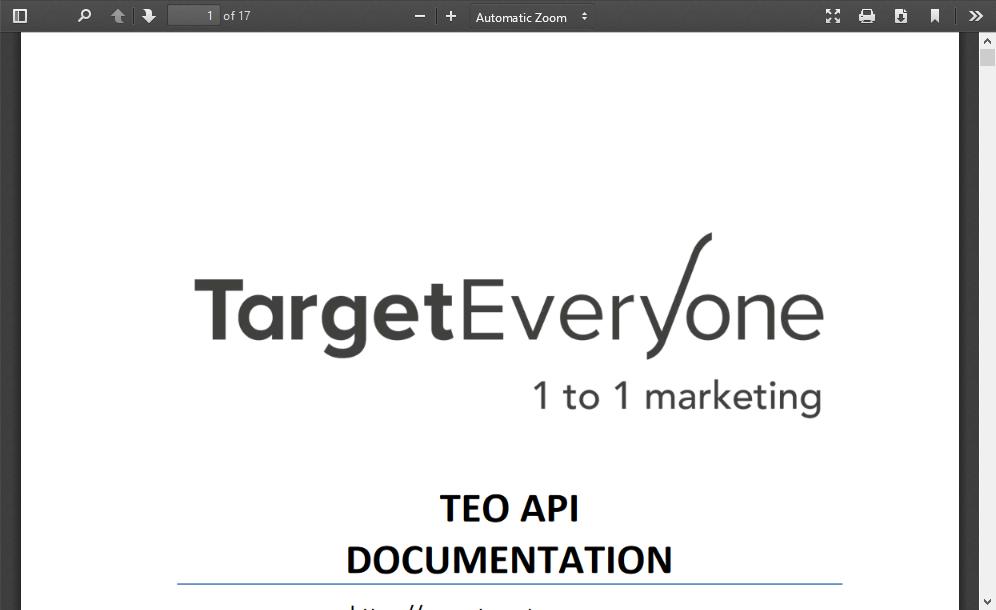 TargetEveryOne Analytics and Statistics System API