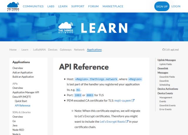 Things Network API