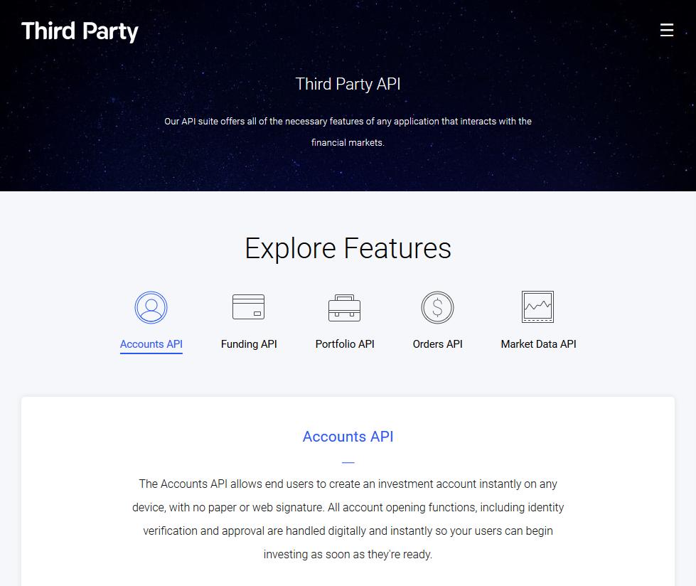 Third Party Trade API
