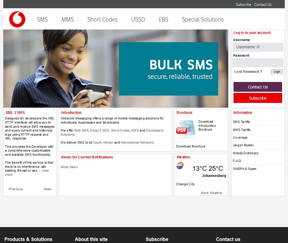 Vodacom Bulk SMS Messaging API