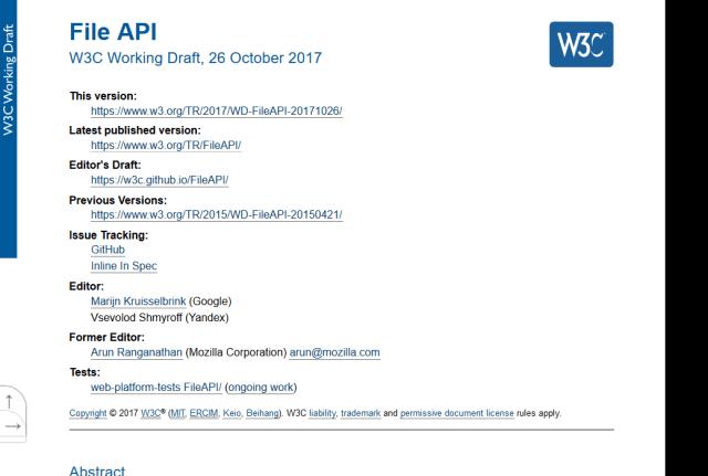 W3C File API