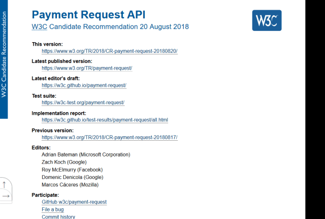 W3C Payment Request API