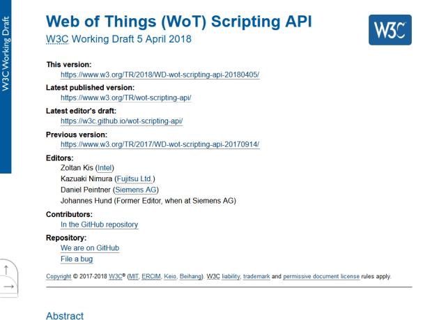 W3C Web Things Wot Scripting API