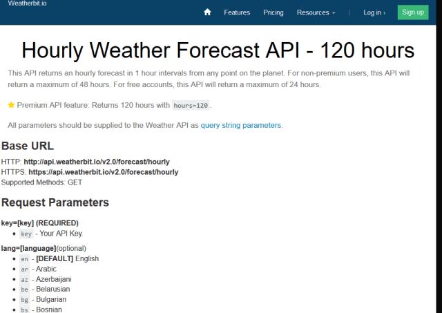 Weatherbit Forecast 48 Hours API