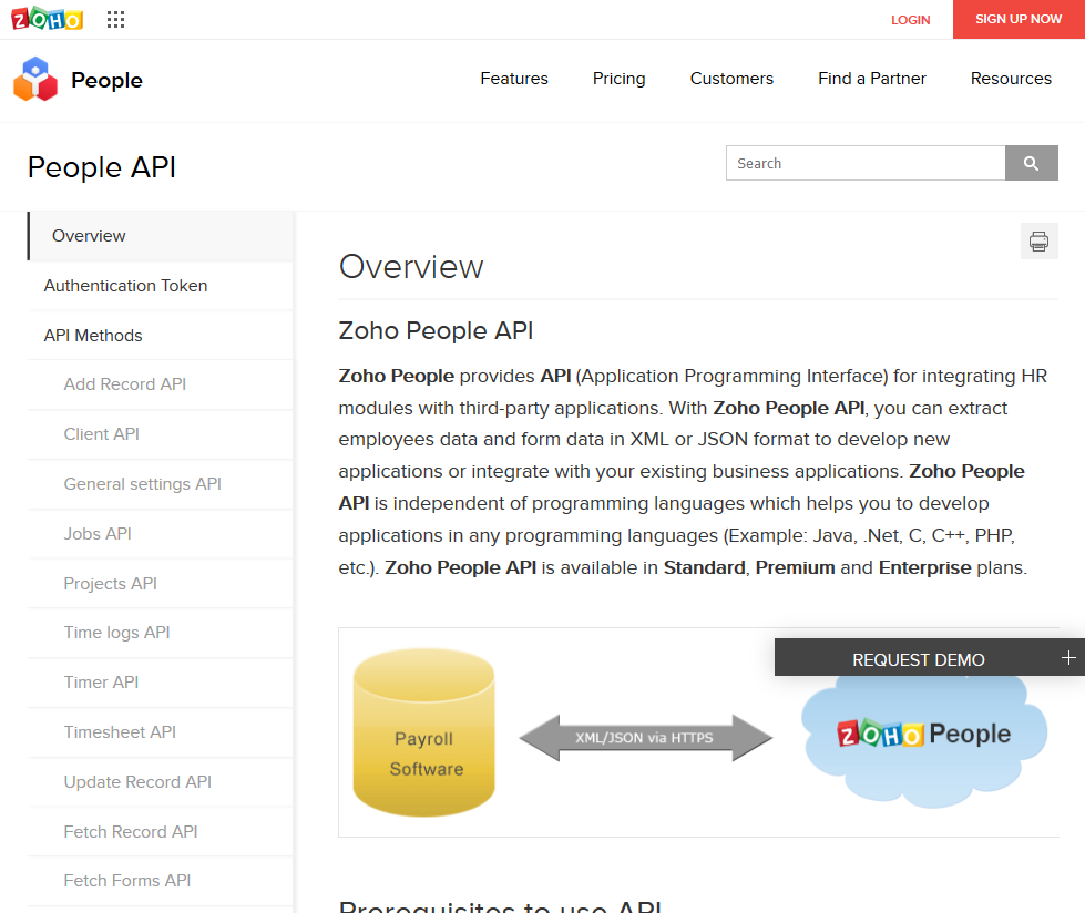 Zoho People API