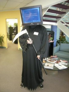 Blue Screen of Death Credit: Costume Fail http://bit.ly/2dNsjTo
