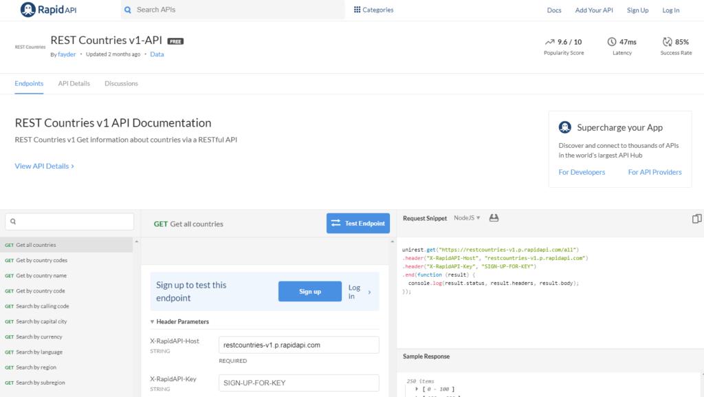REST Countries v1 API Documentation