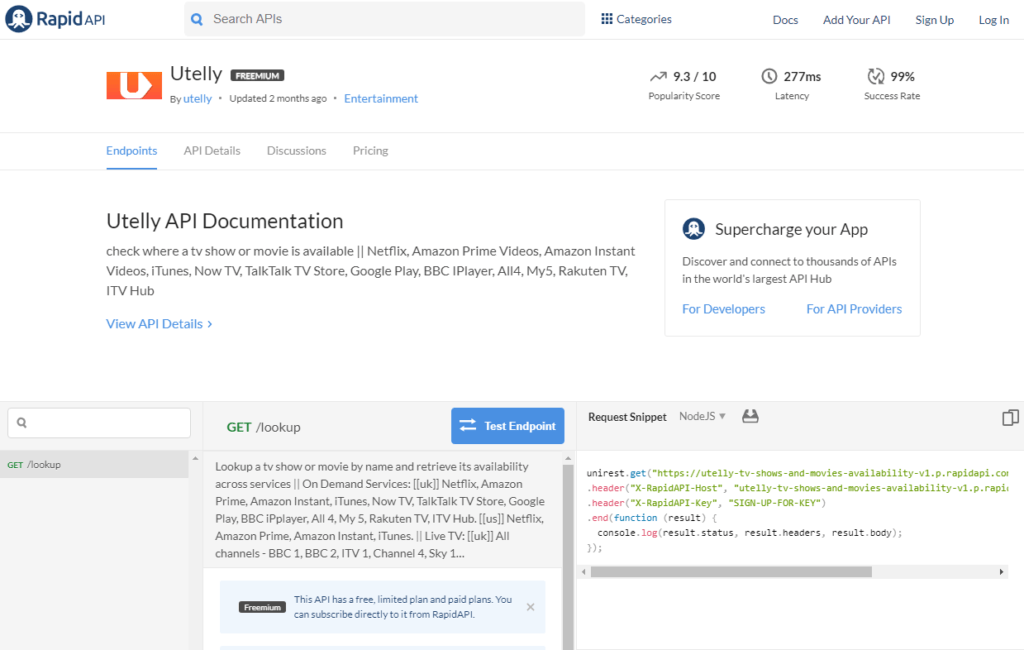 Utelly API Documentation