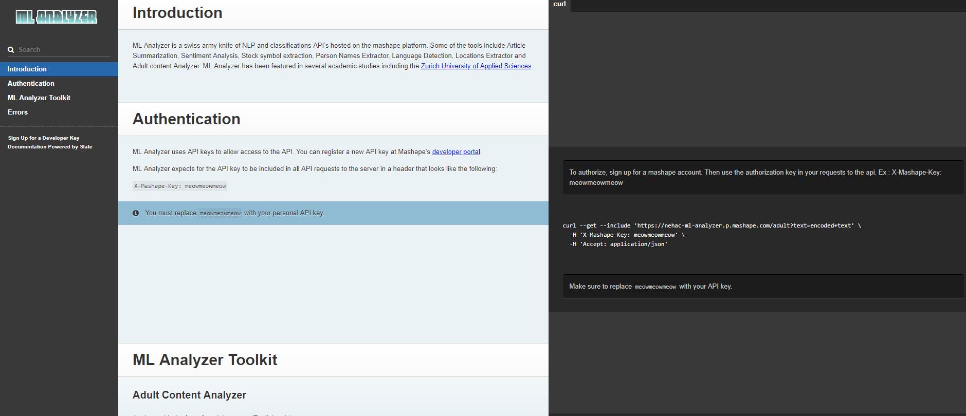 ML Analyzer API