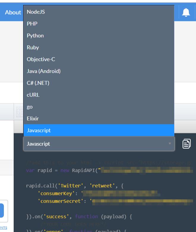 Twitter API Javascript