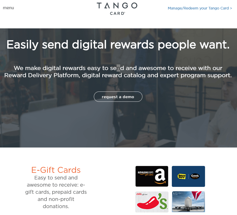 TangoCard Rewards as a service API
