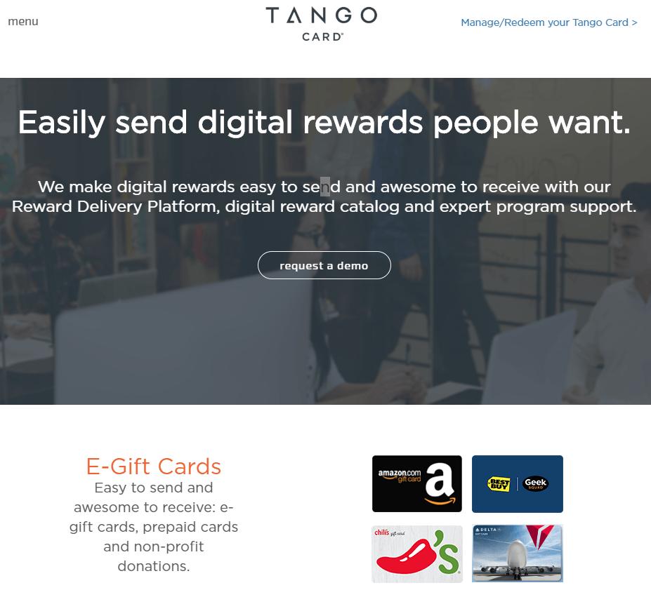 TangoCard Rewards as a service API
