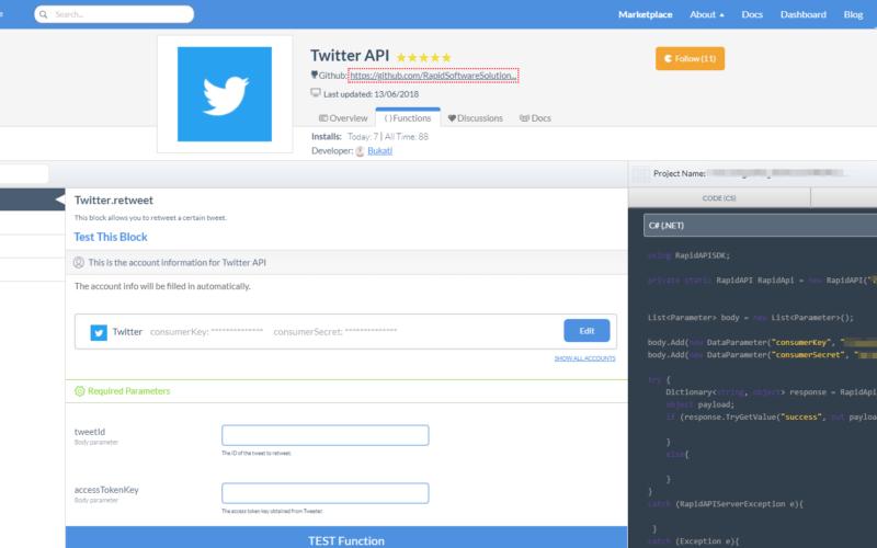 Using Twitter API with C# (.NET)