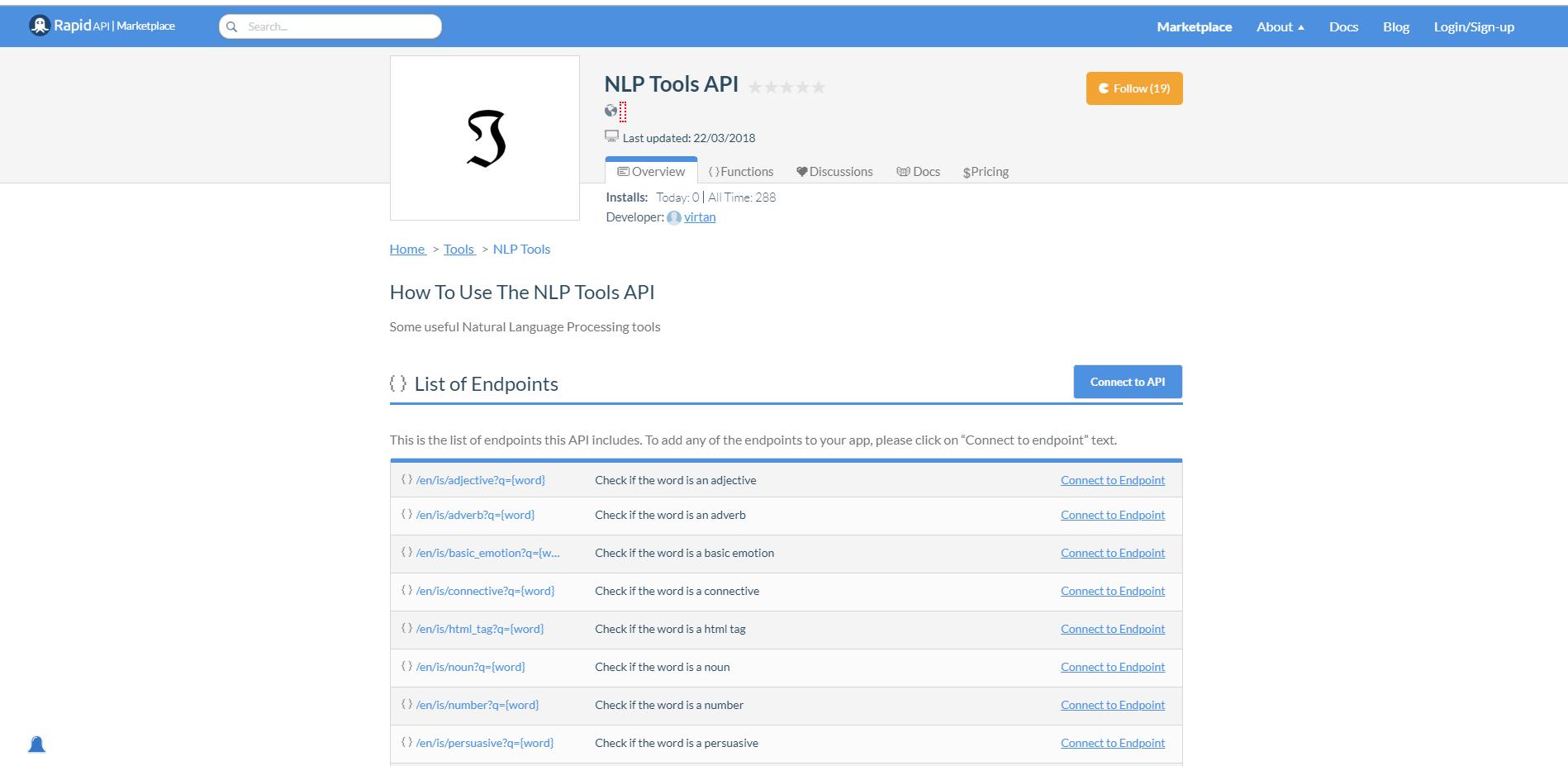 NLP Tools API