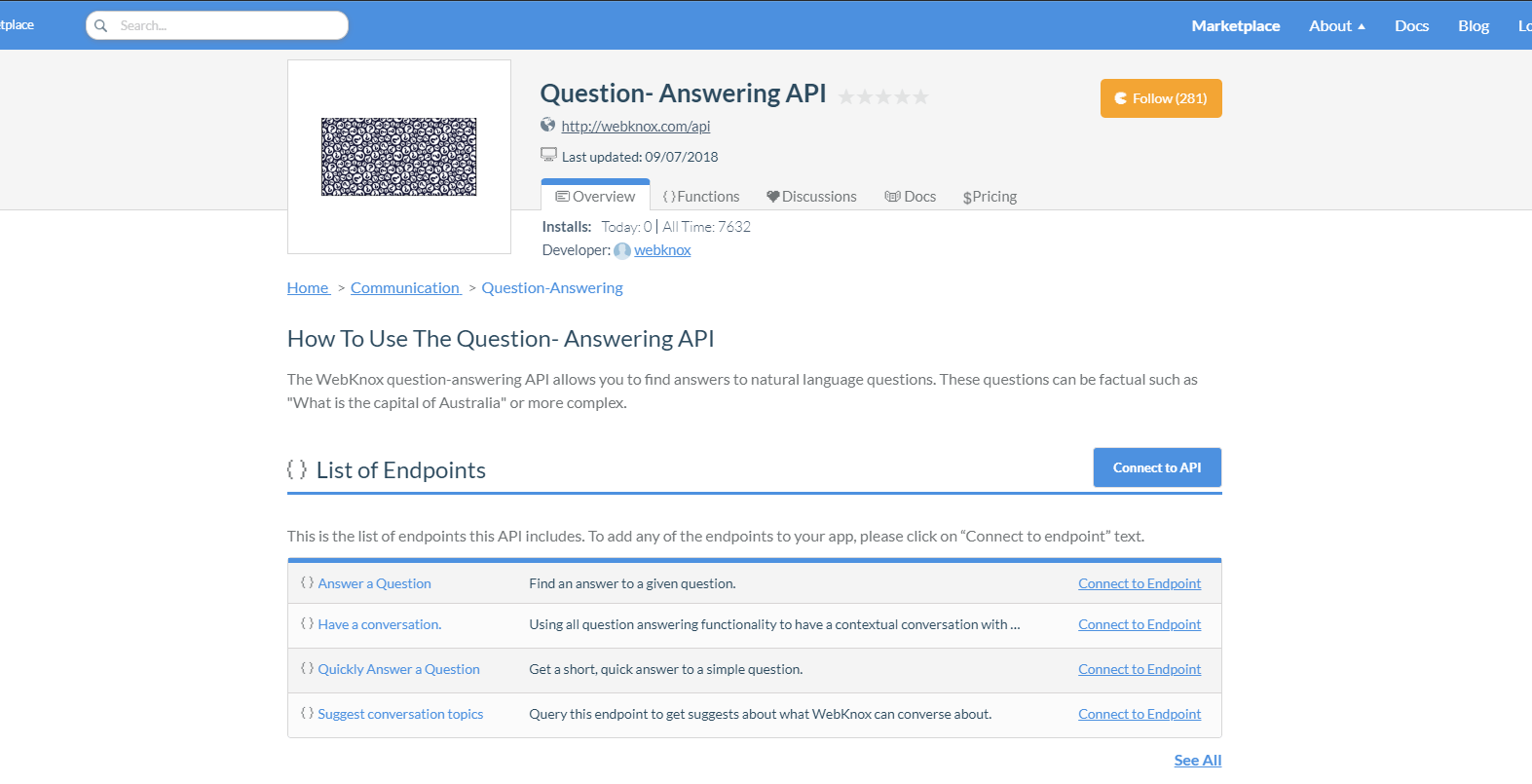 Question-Answering API