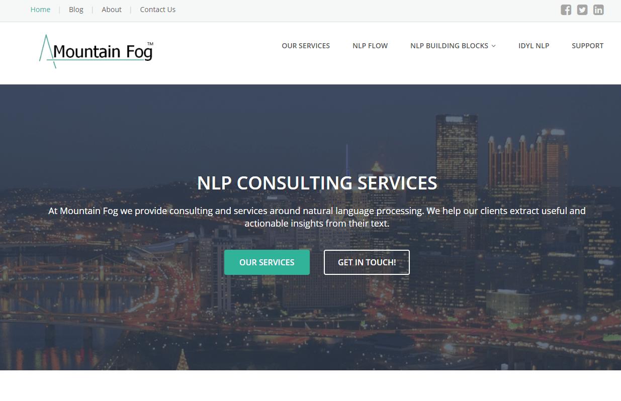 mountain fog NLP API