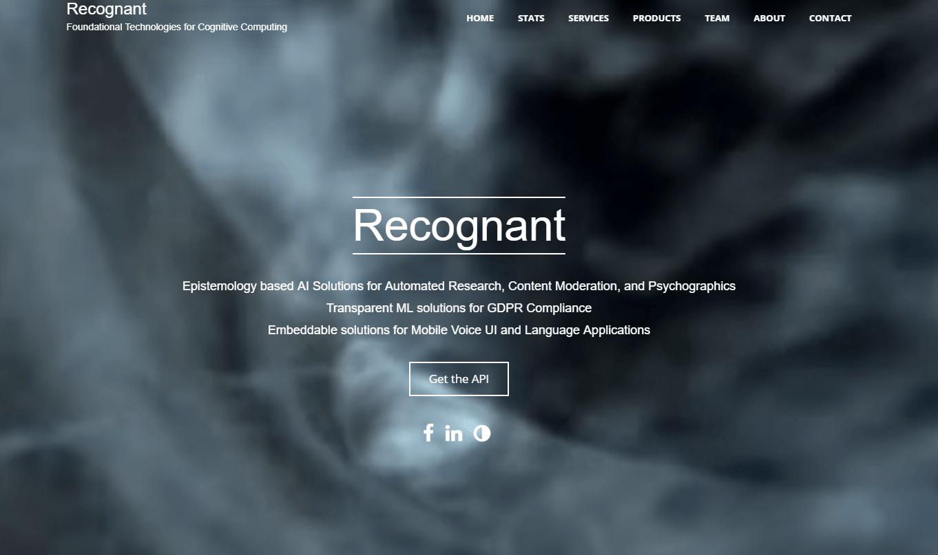 Recognant Natural Language Processing API