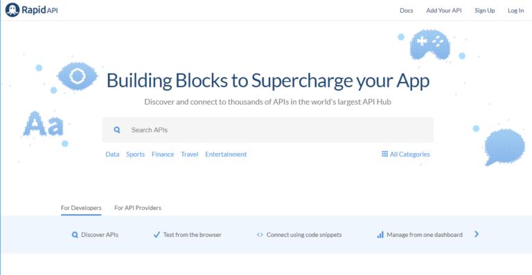 New RapidAPI API Marketplace Design