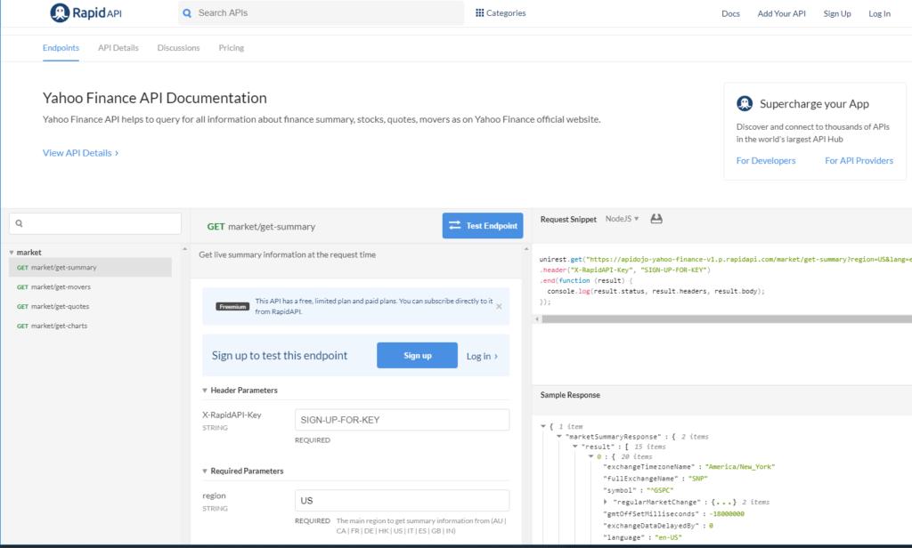 How To Use the Yahoo Finance API (in 2019) [Tutorial] | RapidAPI