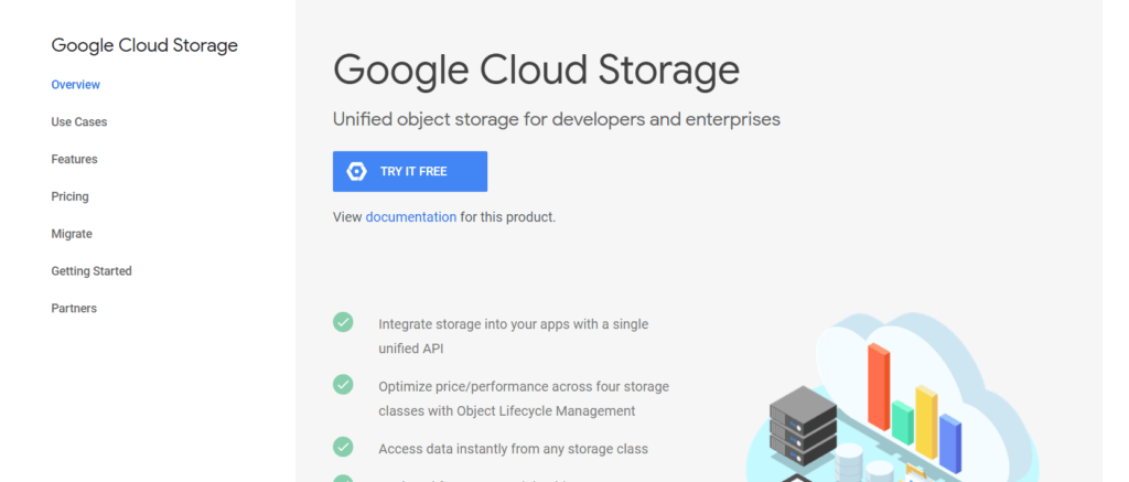 Google Cloud Storage API