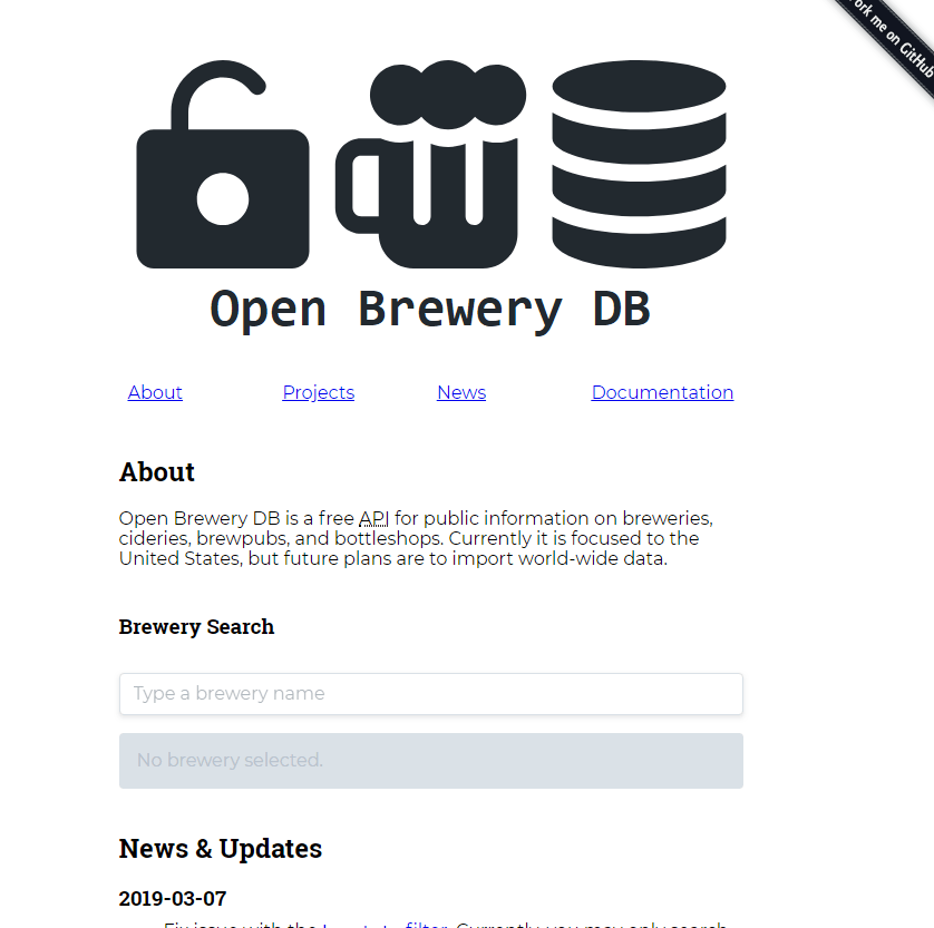 Open Brewery DB API