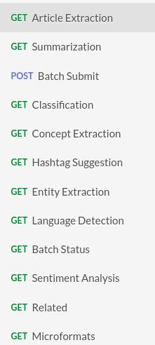 Text Analysis API Endpoints