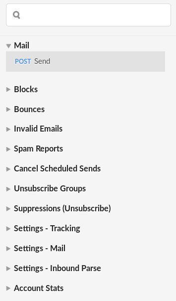 SendGrid API Endpoints
