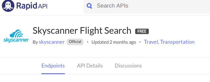 Skyscanner API - Free API on RapidAPI.com