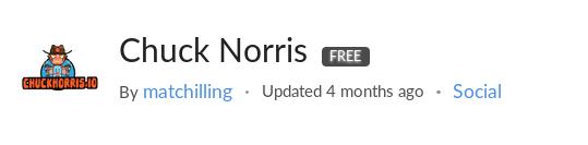 Chuck Norris API on RapidAPI