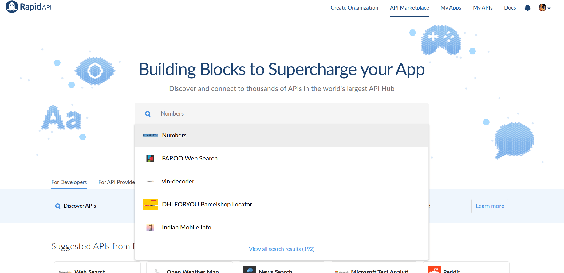 RapidAPI Search APIs