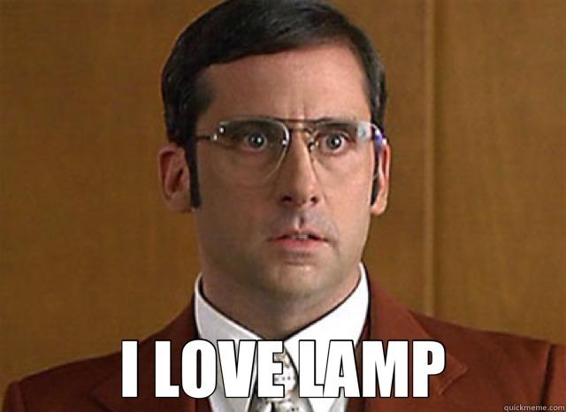 Steve Carrell in Anchorman - I love Lamp