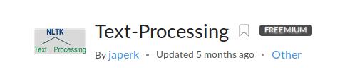 Text-Processing API on RapidAPI.com