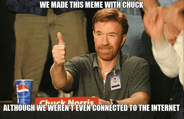 Chuck Norris Meme made by Meme Generator API