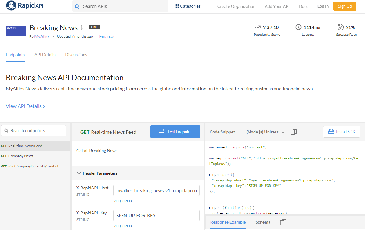 Breaking News API Documentation