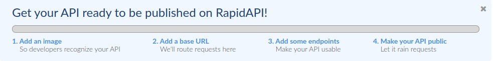 get your API ready to be published on RapidAPI