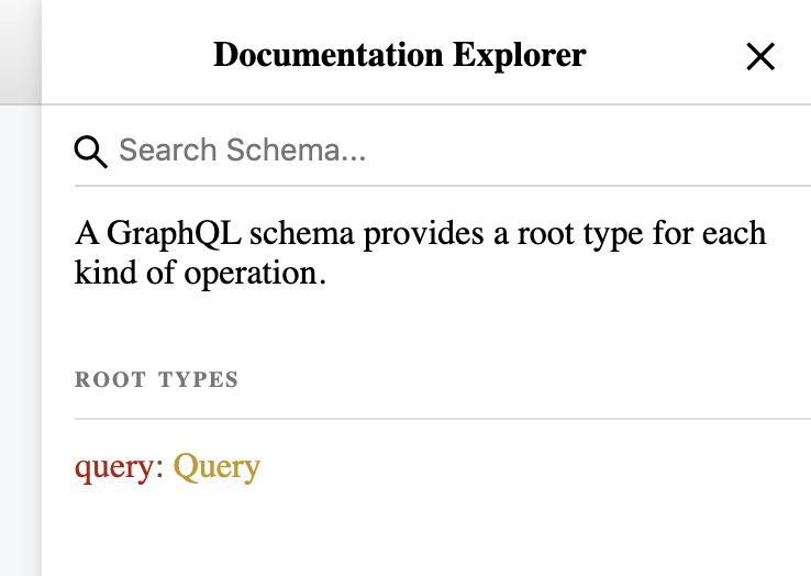graphql documentation explorer