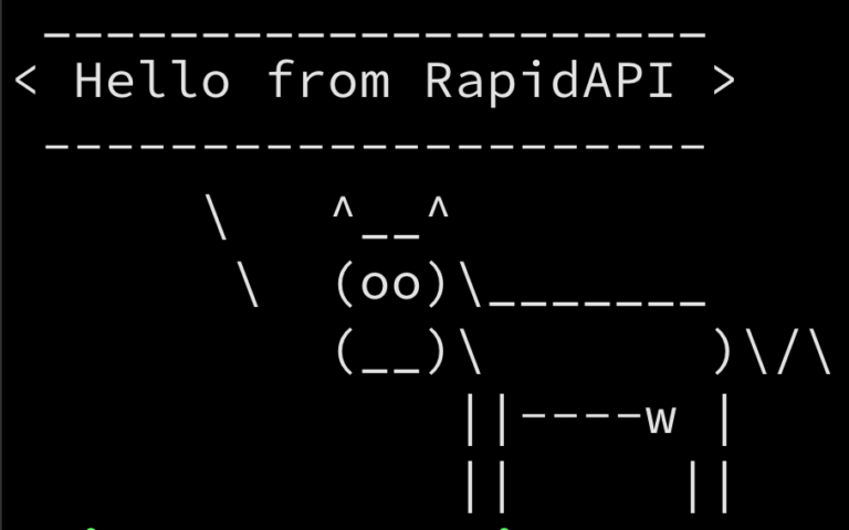 hello from rapidapi cow