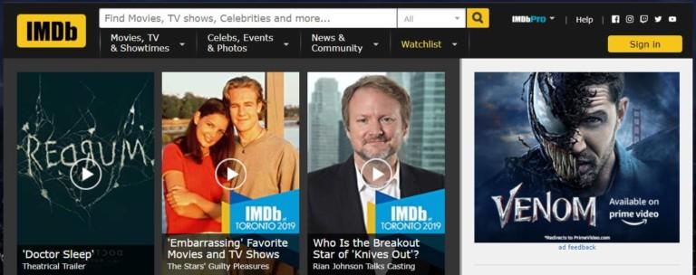 IMDb Homepage